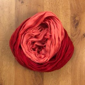 Pink and red scarf